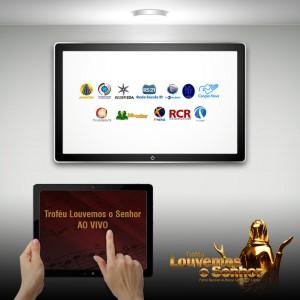 tvs e rádios transmitem o trofeu louvemos 2015