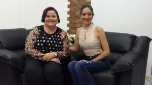 Maria do Rosário e a apresentadora Ana Paula Santos