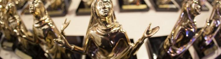 Estatueta Troféu Louvemos o Senhor (imagem ilustrativa)